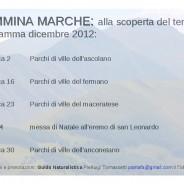 """B&B Italy MARCHE """"lacasatragliulivi"""" consiglia: CAMMINA MARCHE con Pierluigi Tomassetti alla scoperta del territorio. Programma Dicembre 2012 Parchi & Ville delle MARCHE"""